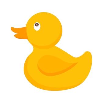 Joli bébé canard jaune. illustration vectorielle de jouets pour enfants.