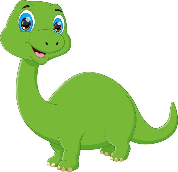 Joli bébé dinosaure posant