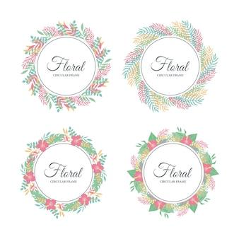 Joli cadre floral tropical, feuilles tropicales exotiques et bordure florale