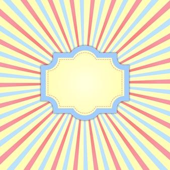 Joli cadre rétro aux couleurs pastel