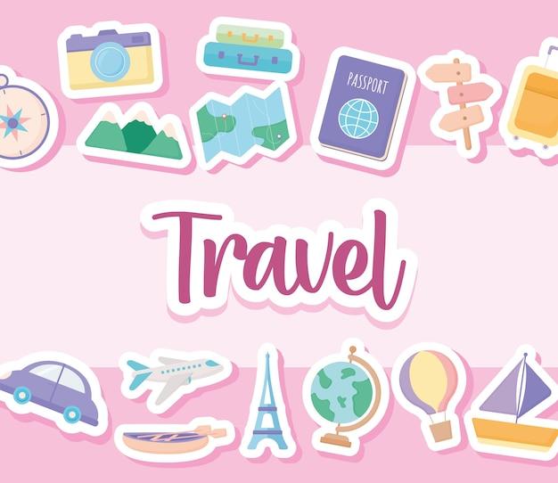 Joli cartel de voyage