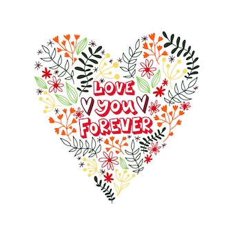 Joli coeur pour la saint valentin. je t'aime pour toujours.