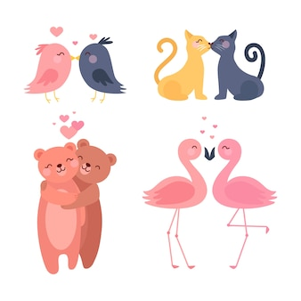 Joli couple animal saint valentin