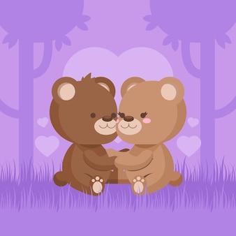 Joli couple animal saint valentin
