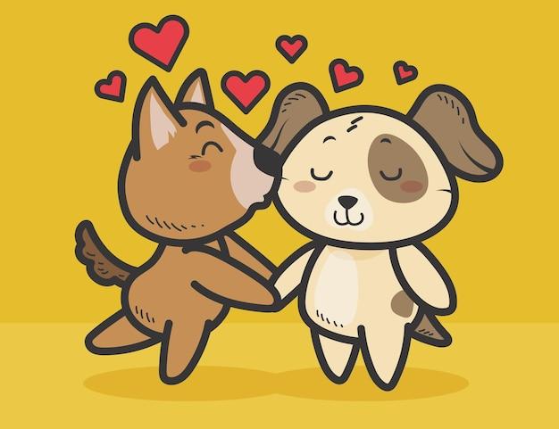 Joli couple d'animaux de la saint-valentin