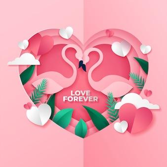 Joli couple de cadre d'amour pour la saint-valentin