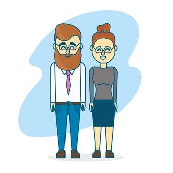 Joli couple avec un design et des vêtements