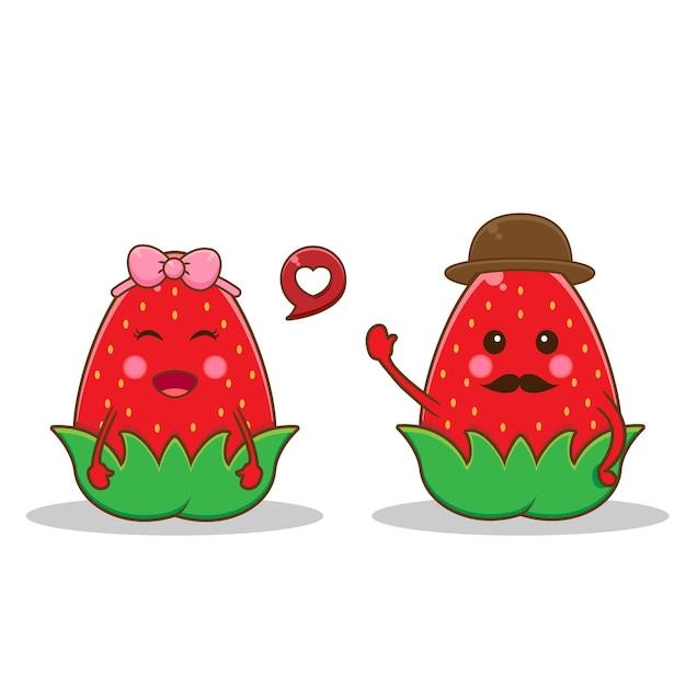 Joli couple mangoustan