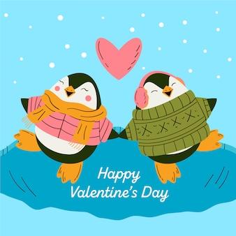 Joli couple pingouin
