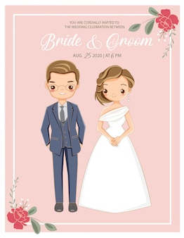 Joli couple romantique en robe de mariée