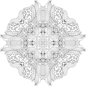 Joli dessin circulaire incolore avec des vignes