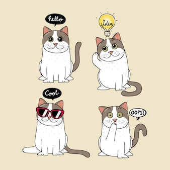 Joli discours de chat et de bulle