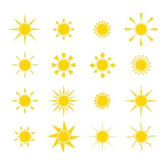 Joli emoji de soleil souriant. émoticônes d'été.