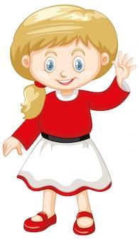 Joli enfant souriant heureux isolé sur blanc