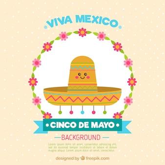 Joli fond chapeau mexicain