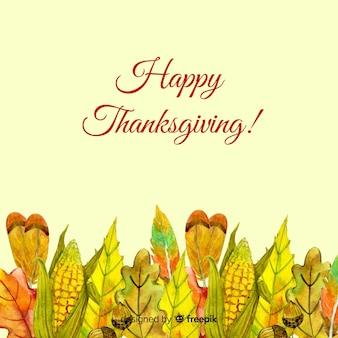 Joli fond de jour aquarelle thanksgiving