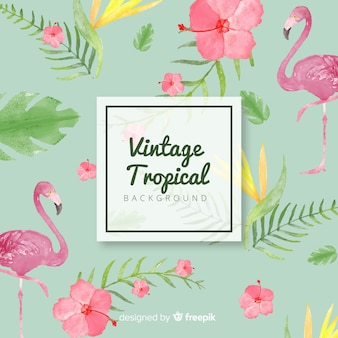 Joli fond tropical aquarelle