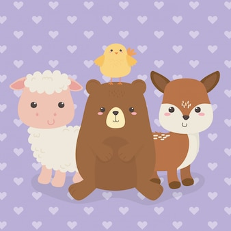 Joli groupe de personnages de la ferme des animaux