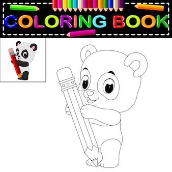 Joli livre de coloriage panda heureux