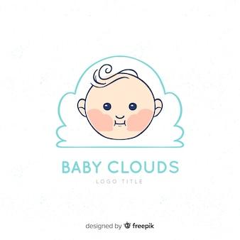 Joli logo de bébé avec un style moderne