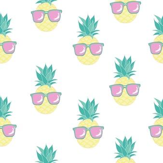 Joli modèle sans couture à l'ananas