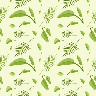 Joli modèle sans couture de feuilles de palmier vert