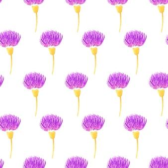 Joli modèle sans couture avec des fleurs de chardon. illustration vectorielle