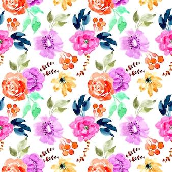 Joli modèle sans couture florale aquarelle