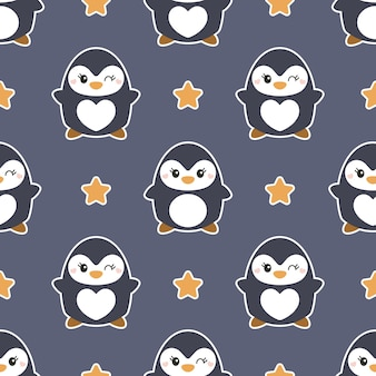 Joli modèle sans couture avec des pingouins