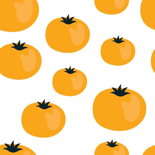 Joli modèle sans couture simple avec des tomates. illustration récolte, légumes, aliments végétaux sains, végétarien, produit agricole. conception de papier d'emballage
