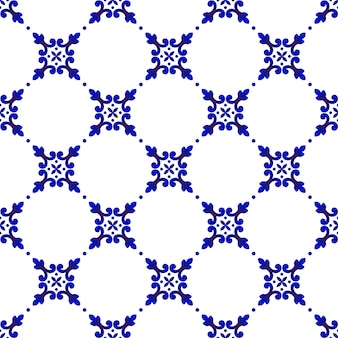 Joli motif bleu et blanc