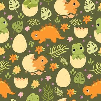 Joli motif de dinosaure sans soudure