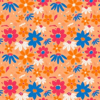 Joli motif floral abstrait