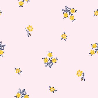 Joli motif floral dans la petite fleur.