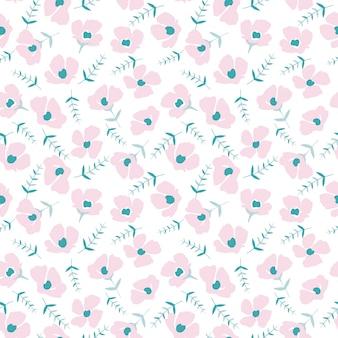 Joli motif floral dans la petite fleur