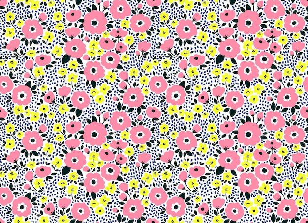 Joli motif floral dans les petites fleurs. imprimé ditsy. fond vectorielle continue.