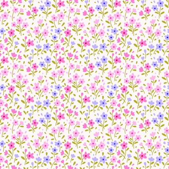 Joli motif floral dans les petites fleurs. imprimé ditsy. texture vectorielle continue. modèle élégant pour les impressions de mode.