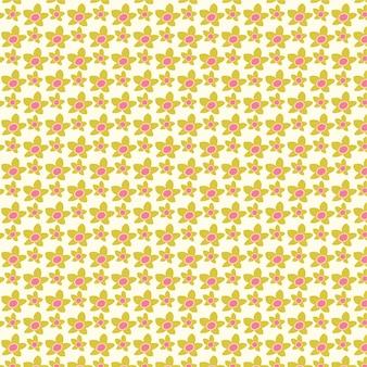 Joli motif floral dans les petites fleurs texture vecteur transparente motif fleur