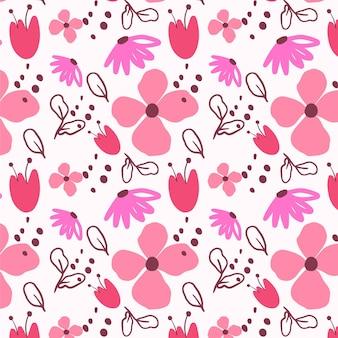 Joli motif floral peint à la main