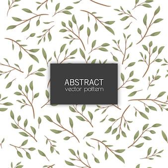 Joli motif floral sans couture avec des feuilles