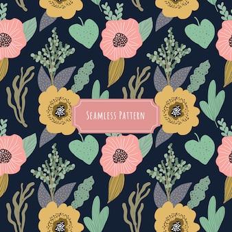 Joli motif floral sans soudure