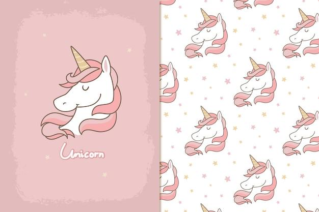 Joli motif de licorne