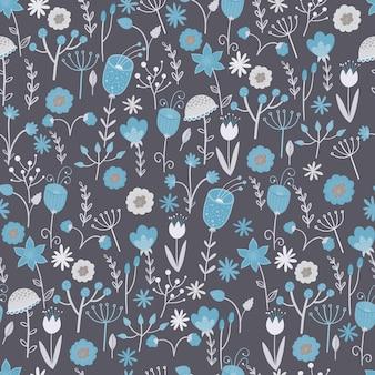 Joli motif avec petites fleurs colorées.