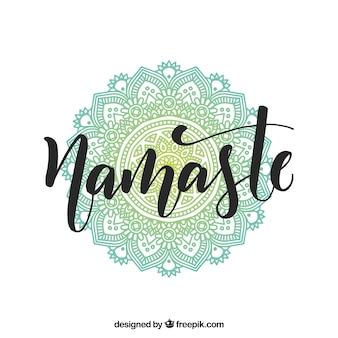 Joli namaste fond avec mandala ornemental