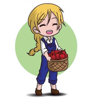 Joli personnage de jardinier