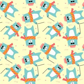 Joli sourire seamless lion seamless pattern