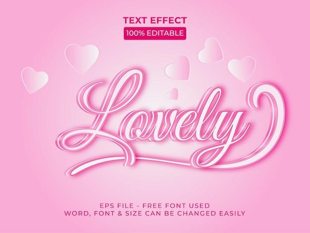 Joli style d'effet de texte effet de texte modifiable