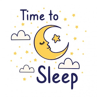 Joli t-shirt avec slogan et jolie lune