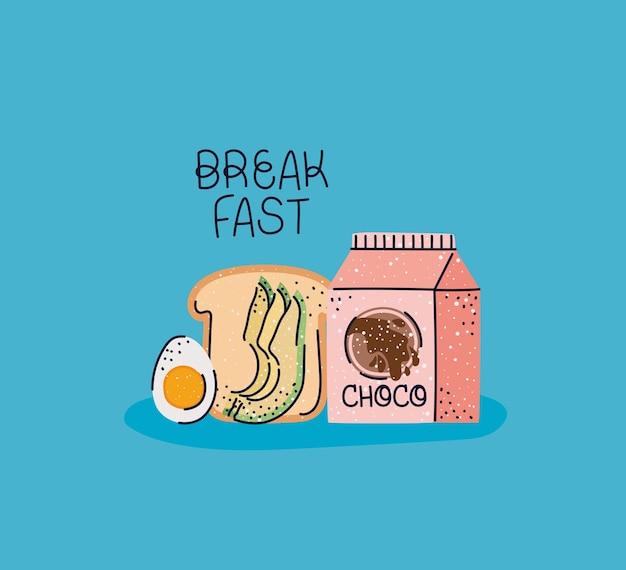Jolie affiche de petit déjeuner