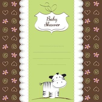 Jolie carte de naissance avec zèbre